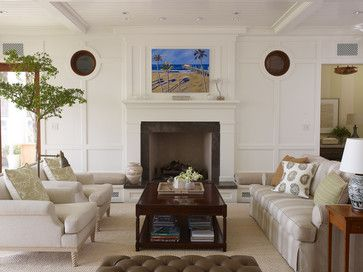Beach Classic - tropical - Living Room - Los Angeles - Tim Clarke Design