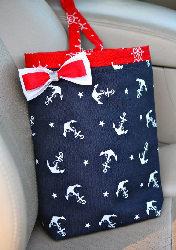 Car Trash Bag Navy   Red Anchors Sailor Teen  Girl  Women  Gifts Car. 43 best Etsy Unique Gifts images on Pinterest   Unique gifts