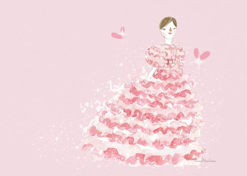 Lily-Rose Depp in Chanel Haute Couture | Fashion Illustration by Sasa Khalisa