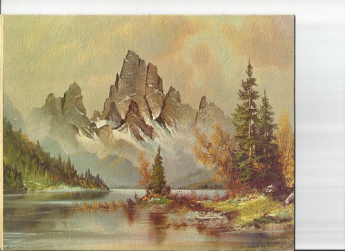 Vintage Sheffield Litho print 103-L Timberline Lake by Wilme 8x10 in DAC NY USA