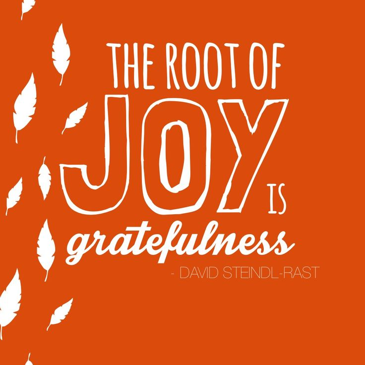 The root of joy is gratefulness #november