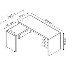 Resultado de imagem para mesa para escritorio medidas for Medidas mesa escritorio