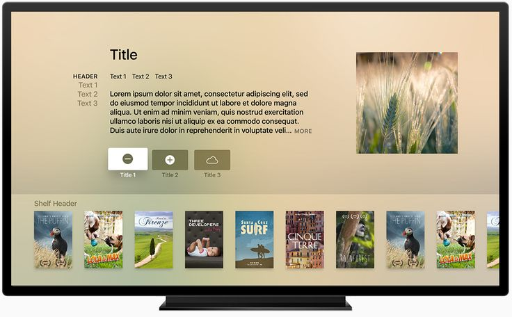 UI Guidelines for #tvOS Product Template on #Apple TV