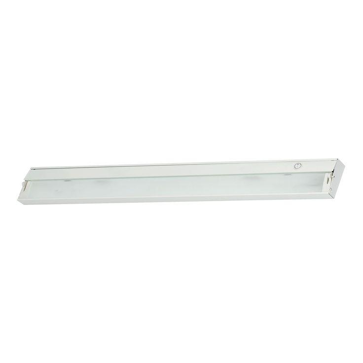 Alico Zeeline 6 Lamp Xenon Cabinet Light In White With Diffused Glass