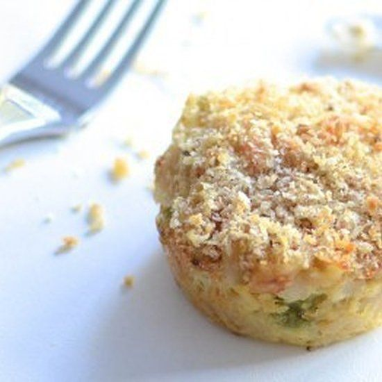 Most kids love creamy Tuna Mornay, so these are a finger-food dream come true. For this recipe you can use the leftovers of your favourite family pasta dinner or use the One Handed Cooks Tuna Mornay base recipe and make a full batch of these delicious muffins. They also freeze perfectly. Enjoy. Nutrition Tip: Choose tuna canned in springwater or oil rather than brine to avoid the added salt. — One Handed Cooks Get the Tuna Mornay Muffin recipe