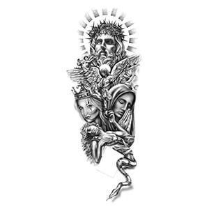 Religious Tattoo Sleeve Design