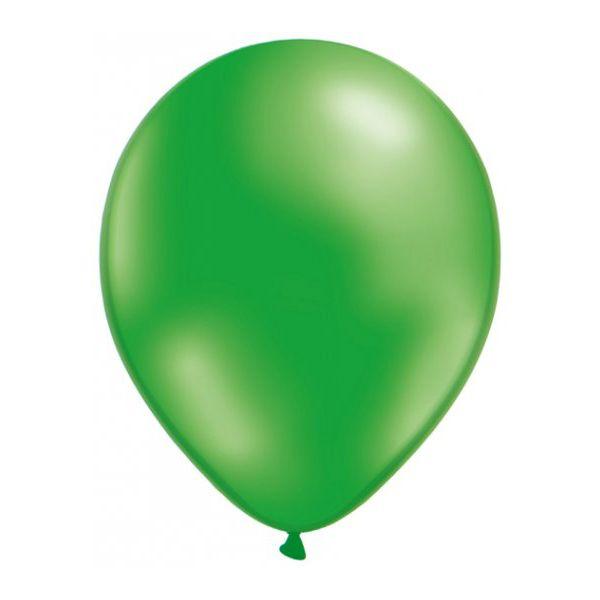 50 Ballons Métalliques - Vert #Ballonsfêtes #Sculpturesurballons