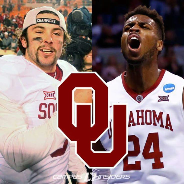 Baker Mayfield #6 & Buddy Hield #24 OU Sooner Football Basketball boomer sooner