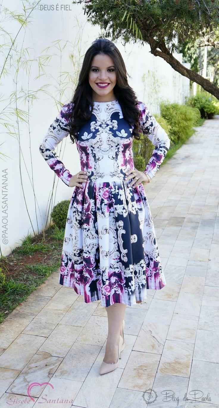 Blog da Paola: Look do Dia: Vestido Lady Like Midi - By Gisele Santana