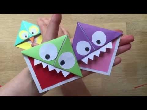 Monster Corner Bookmarks (and Owls!) - Red Ted Art's Blog