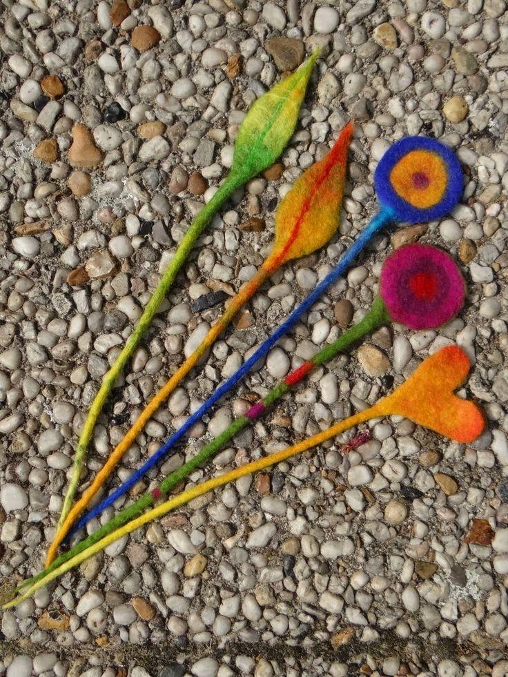fiberrainbow: felting - bookmarks?