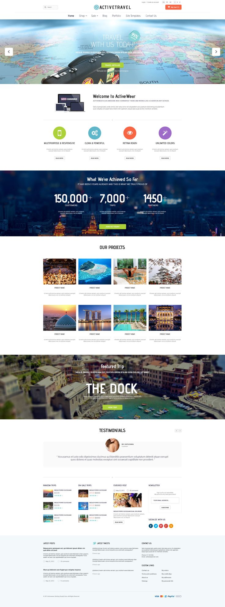 ActiveWear | Multi-Purpose Theme #travel #web