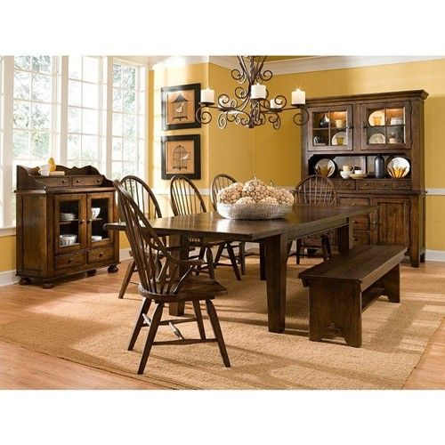 Attic Rustic Leg Dining Table With Leaves By Broyhill