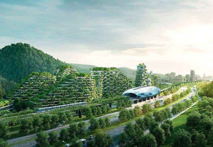 40.000 træer og millioner af planter danner rammen for verdens første skovby. Byggeriet er netop gået i gang i det sydlige Kina.