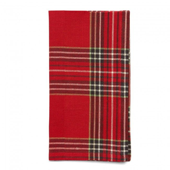 Set the stage for celebration with Harman Christmas Tartan Cotton Napkins finished in Santa Claus red plaid. These napkins come in a set of 4 accenting & personalizing your overall holiday look.