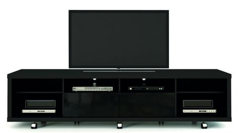 Manhattan Comfort Cabrini 2.2 TV Stand Black, TV Stands - Manhattan Comfort, Minimal & Modern - 1