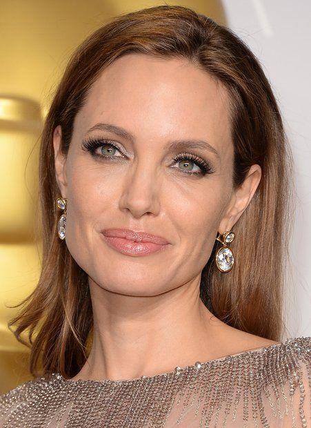 angelina jolie no makeup | ... das Celebridades + Makeup + Penteado - Angelina Jolie no Oscar 2014