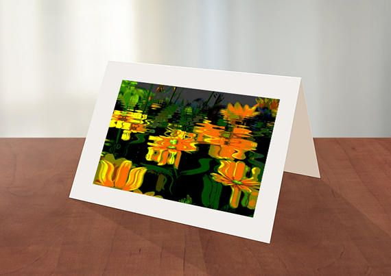 Flower Reflections-This high resolution beautiful card is sure