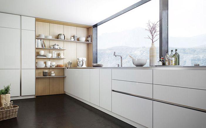Las 25 mejores ideas sobre gabinetes de cocina de madera for Cocinas modernas blancas precios