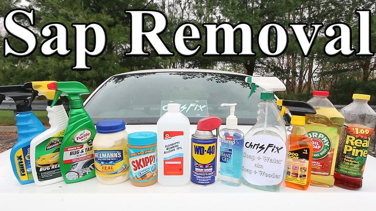 What should you use to remove tree sap from your car