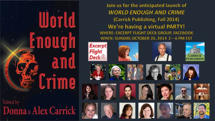 Join the authors from World Enough and Crime on October 26th from 2 to 6 p.m. EST.