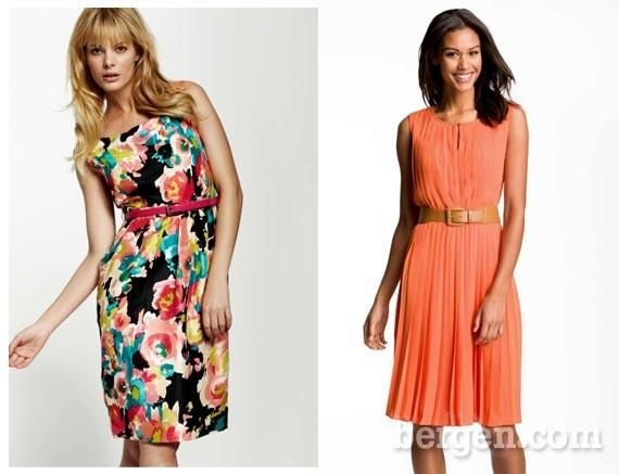 colorful and coral dresses