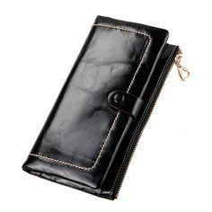 2016 estilo de nuevas carteras de cuero para damas billetera de moda baratas [LH63003] - €31.64 : bzbolsos.com, comprar bolsos online