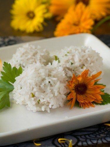 Рис с кинзой и лаймом