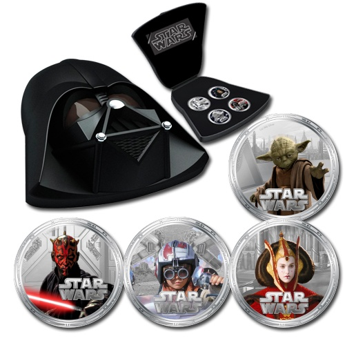 Niue 2012 $2 Star Wars Series II Darth Vader 1oz Silver Proof Set - Downies.com #starwars
