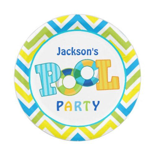 pool party beach ball paper plates pool birthday party pinterest
