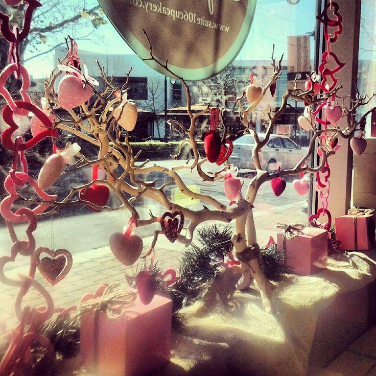 Cupcakery's Valentine window display at Victoria Gardens in ...