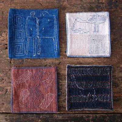 レンテン族(ランテン族)のコースター | みんげい おくむら | 日本と世界の手しごとや民芸(民藝)品の雑貨
