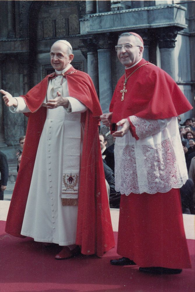 AK Religion Papst Paul VI und Papst Johannes Paul I