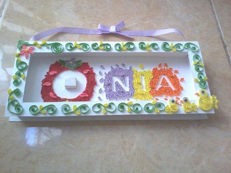 "Name tag frame ""nia"""