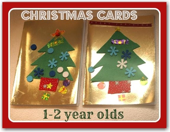 Simple Christmas cards for toddlers