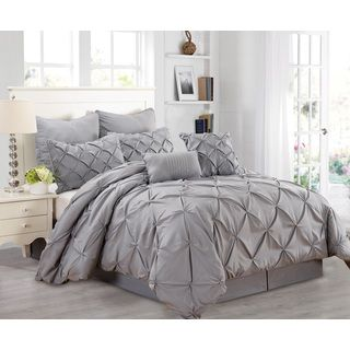Classic and Chic Pintuck Pinch Pleated 3-piece Comforter Set | Overstock.com Shopping - The Best Deals on Comforter Sets