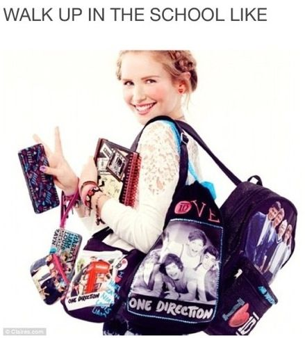 One Direction<<<< haha if I did this my friends would either die laughing or just walk away like I don't know her:)