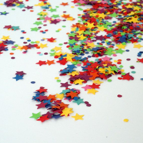 Eco-friendly Star Shaped Rainbow Confetti by rosieplustheboys