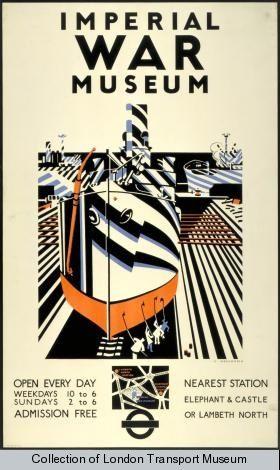 Dazzle camouflage inspiring Edward Wadsworth for London Transport