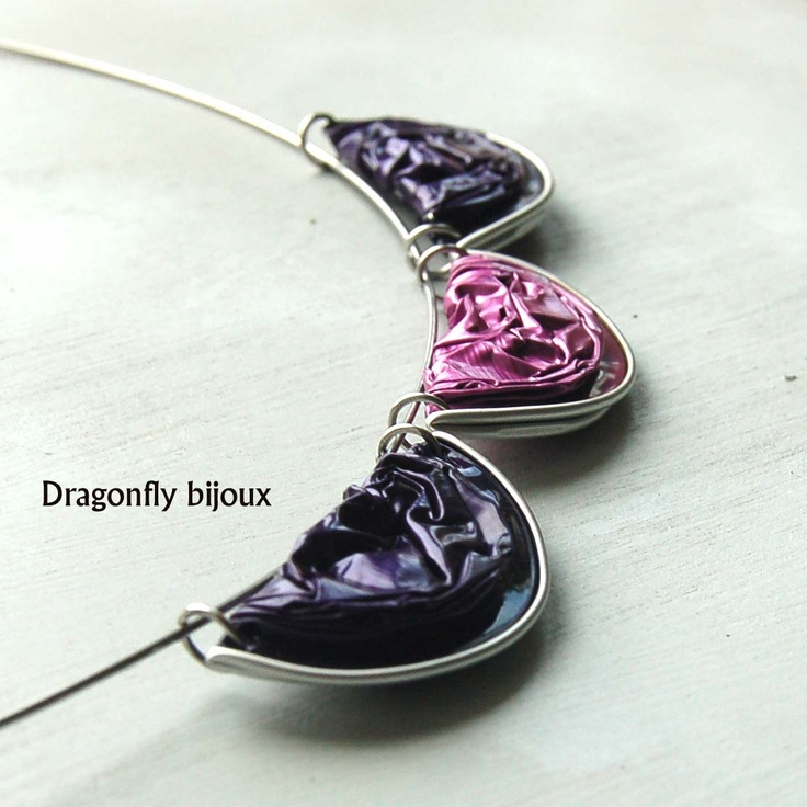 "recy nespresso necklace ""Purply"""