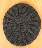 round loom knitting beret  no video