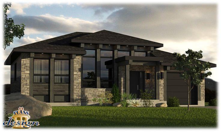 814 le tefnet bungalow plain pied plans design plan for Maison eplans