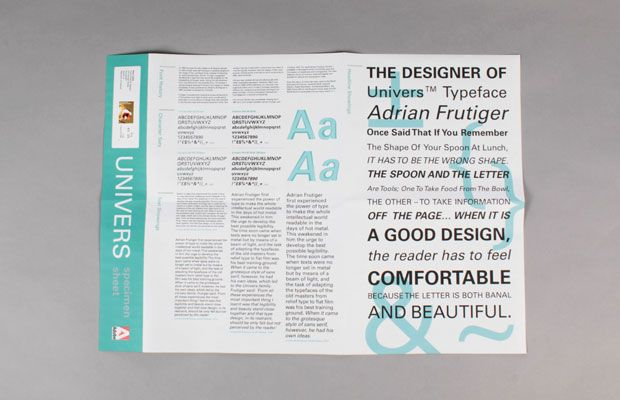 Cargo * http://cargocollective.com/search/Type-Specimen-Sheet * Univers  * alina o'shaughnessy