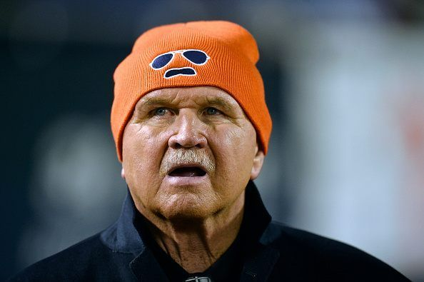 CHICAGO, IL - DECEMBER 15: Former head coach Mike Ditka of the Chicago Bears watches from the sidelines during the first quarter at Soldier Field on December 15, 2014 in Chicago, Illinois. (Photo by Brian Kersey/Getty Images)