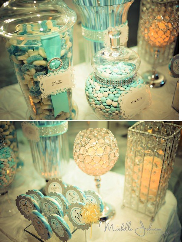 Tiffany blue candy station