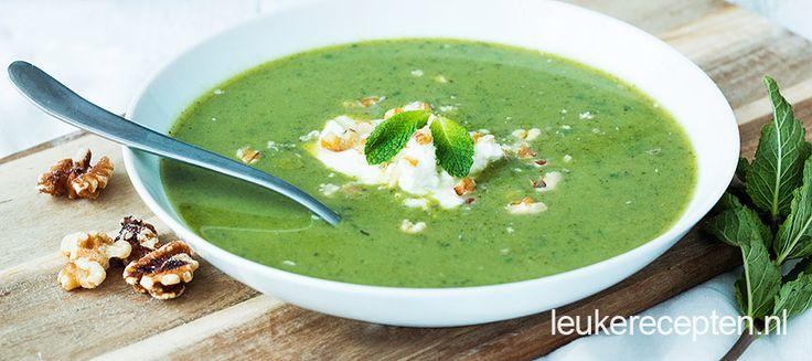 Broccoli munt soep - Leuke recepten