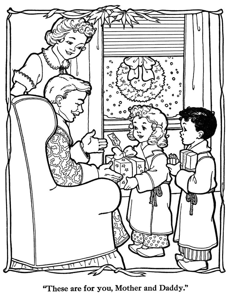 352 best Kid's Christmas Coloring images on Pinterest