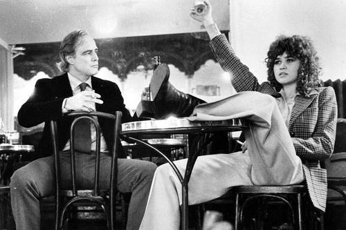 With Maria Schneider on the set of Last Tango in Paris.