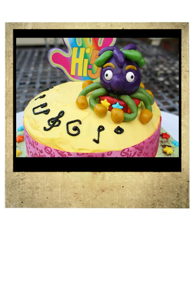 K's 10th Birthday Hi 5 Cake.  Close up of marzipan Jup-Jup.