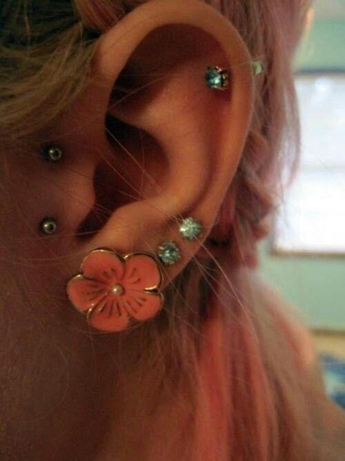 Cute flower piercings